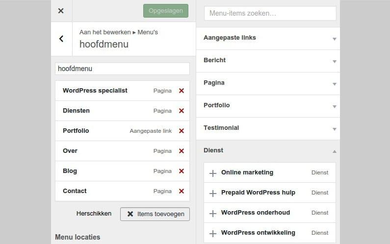 Menu's in Customizer in WordPress 4.3