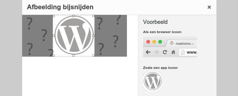 Site icoon in WordPress 4.3