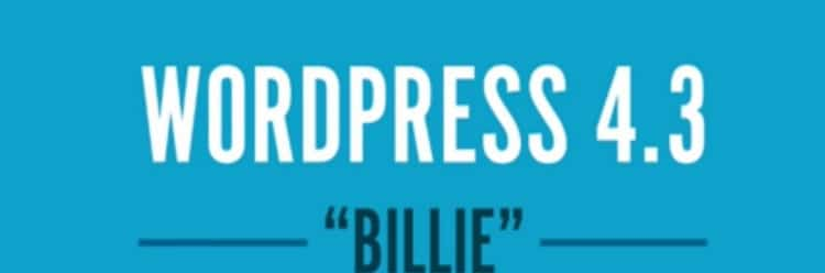 WordPress 4.3 - Billie